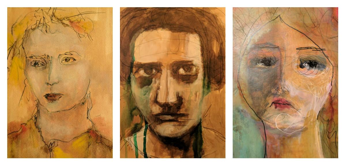 Gillian Lee Smith - Ink portraits by Joan Tucker, Kara Strachan Bullock and Heather Laidlaw
