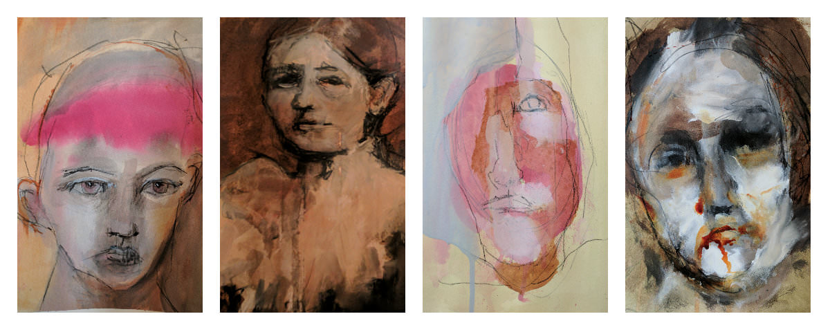 Gillian Lee Smith - Ink portraits by Kathie Vezzani, Carol MacConnell, Joanne Desmond and Kathy Sandler