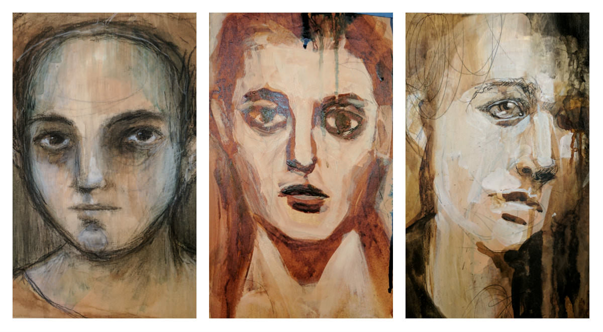 Gillian Lee Smith - Ink Portraits by Angela Kennedy, Chrissie England and Ivy Newport