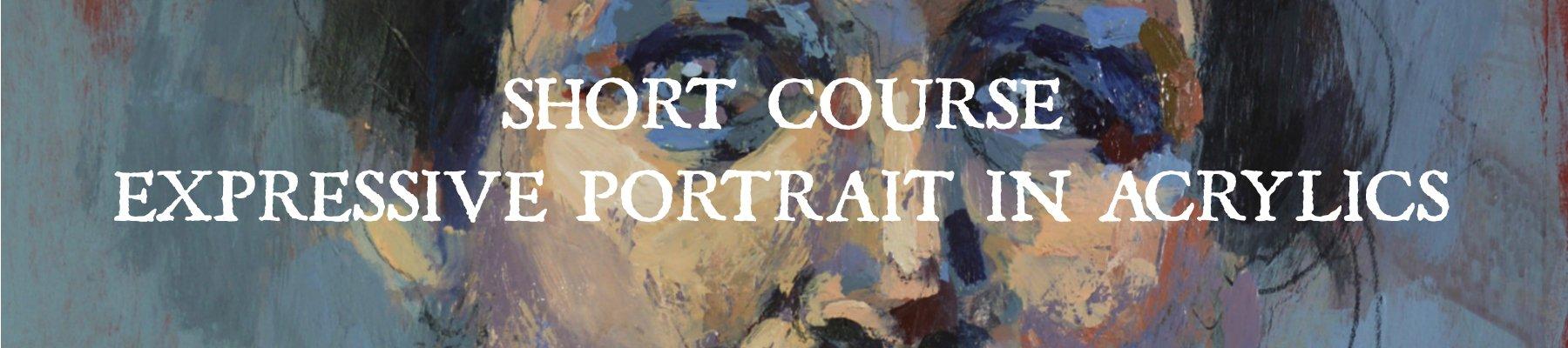 Short Course Expressive Portrait in Acrylics banner